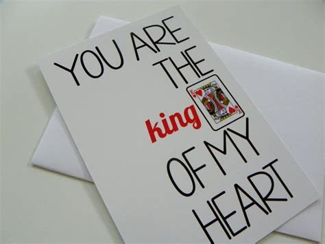 Funny Romantic Card King of Hearts Valentine Card Love