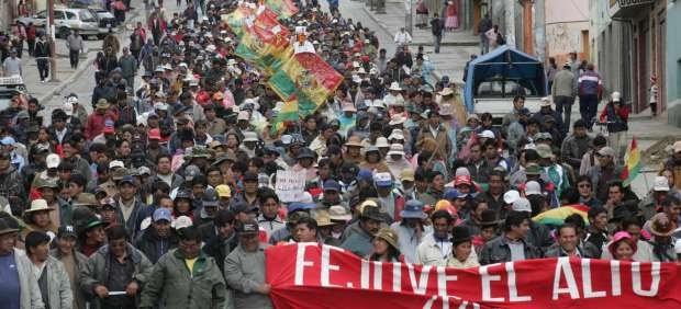 """Diciembre 30: Manifestaciones en Bolivia contra el """"gasolinazo"""""""