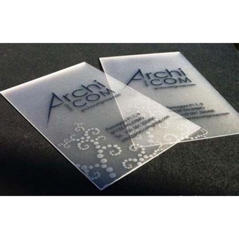 Name card printing: Plastic Frosted Card