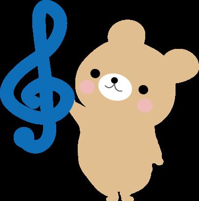 動物たちの音符のイラスト無料イラストフリー素材