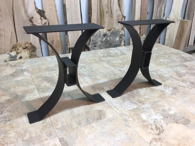 Steel Bench Base. Ohiowoodlands Metal Table Legs. Bench Legs, Accent Table Base, Jared Coldwell