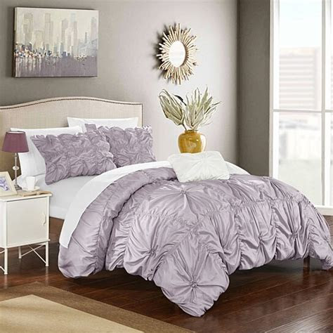 buy chic home  piece zach floral pinch pleat ruffled