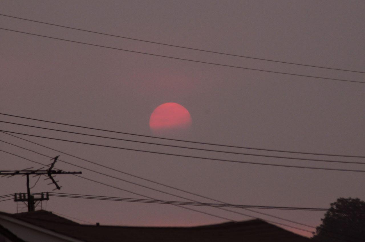 Sunset and smoke