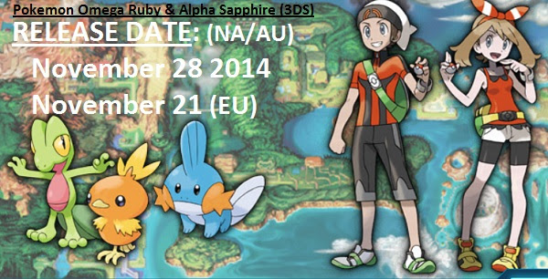 Pokemon Omega Ruby amp; Alpha Sapphire Release Date