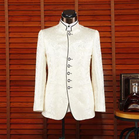 Fashion Design Nehru Jacket Stand Collar Wedding Suit