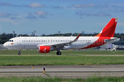 Avianca (Colombia) Airbus A320-214 WL F-WWBE (N632AV) (msn 5632) (Sharklets) (partial new livery) TLS (Eurospot). Image: 912194.