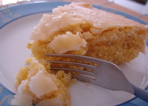 Lime polenta cake