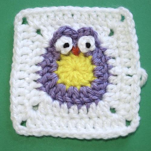 image granny square crochet owl tutorial