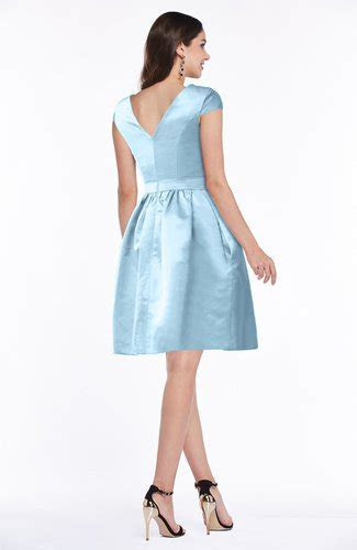 Ice Blue Modest Baby Doll Scoop Zip up Bow Plus Size