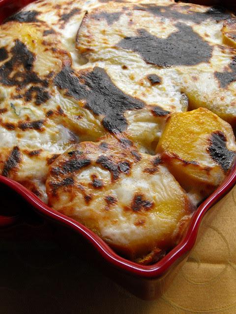 Baclhau no forno com legumes e batata-doce