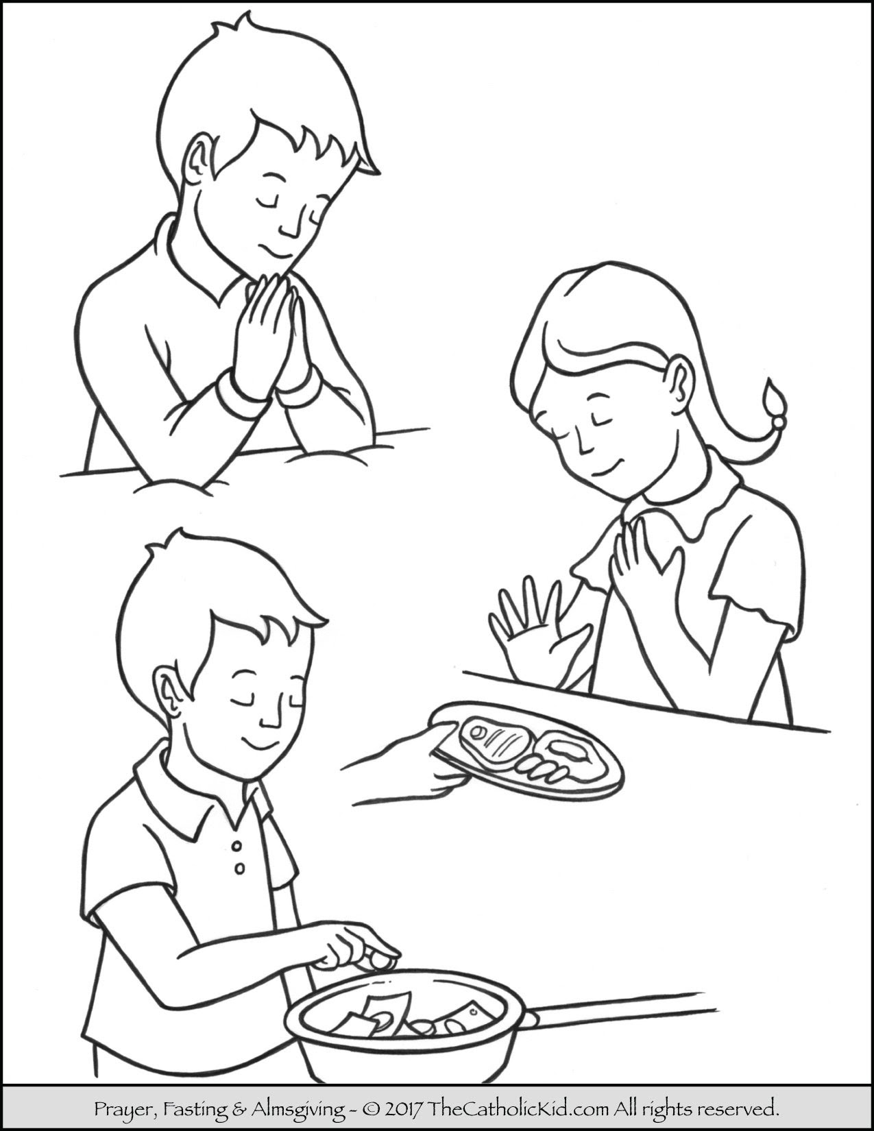7600 Coloring Pages Child Praying , Free HD Download