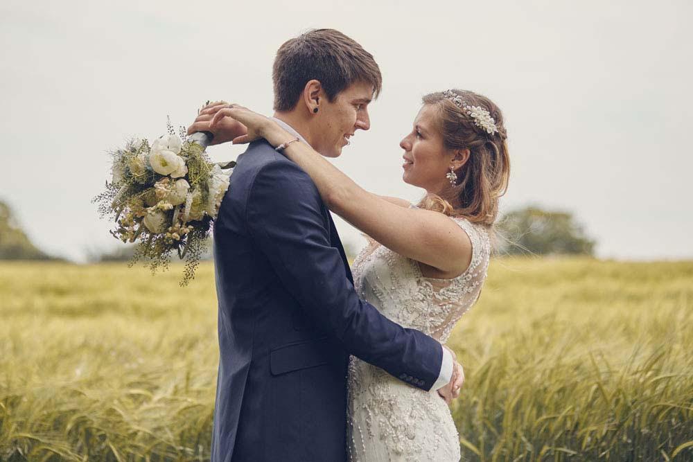 bride and groom embrace Needham Market - www.helloromance.co.uk