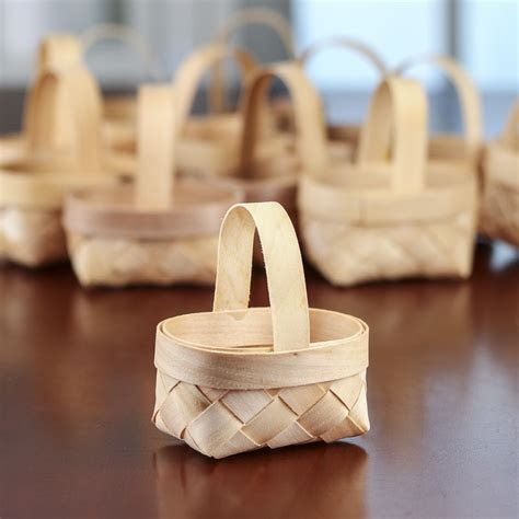 eco friendly chipwood baskets favor baskets favor
