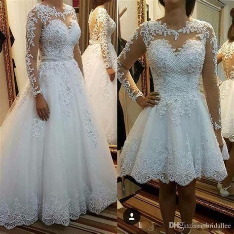 Discount Detachable Skirt Wedding Dresses 2018 Vestido De