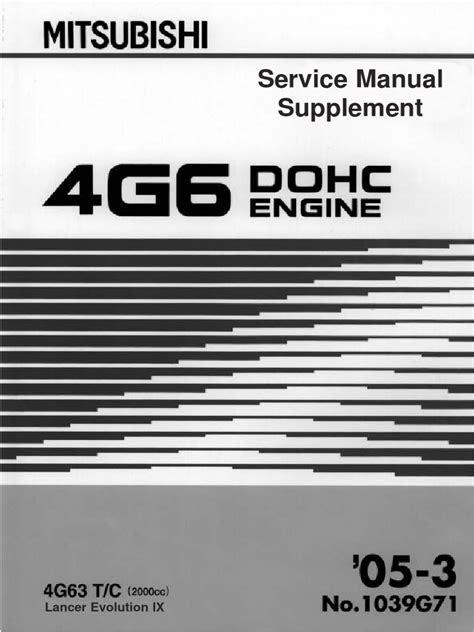 238934265 Mitsubishi Galant 4g63 Engine Repair Manual (1