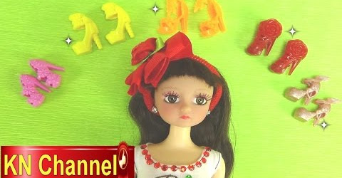 Đồ chơi trẻ em Bé Na búp bê Clara Lâu đài màu hồng Dollhouse Shoes room Childrens toys