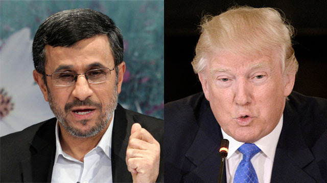 Risultati immagini per Ahmadinejad trump