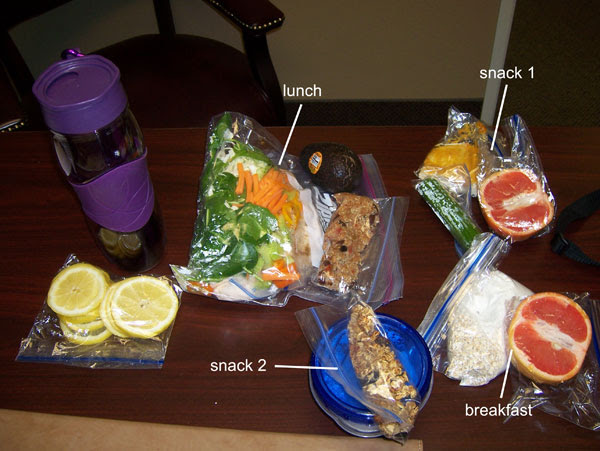Chelle's clean eating cooler - 1600 calories. Monday March 14, 2011