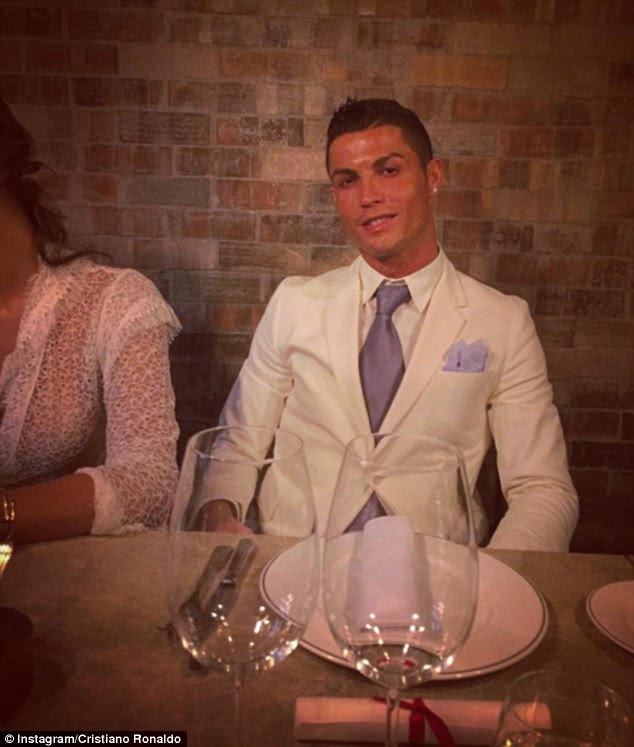Cristiano Ronaldo posted this picture in the build-up to his New Year's celebrations