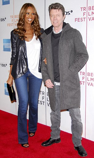 Happily married: David Bowie is now happily married to supermodel Iman