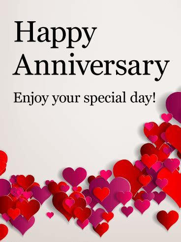 Enjoy Your Special Day! Happy Anniversary Card: Pink and