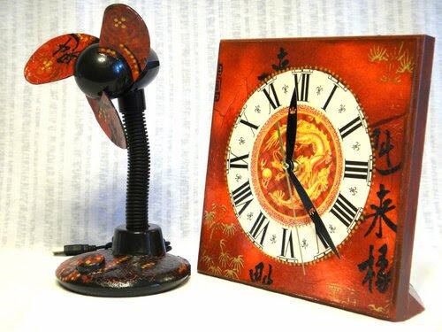Глаз дракона. Часы и вентилятор в офис