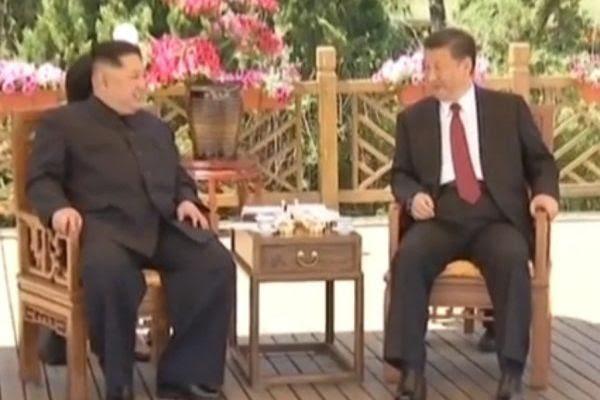 今年5月金正恩密访大连 与习近平二次会晤(视频截图)