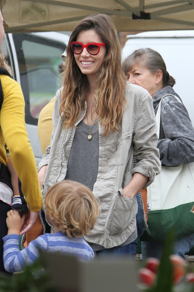 Jessica Biel - Jessica Biel seen out with friends at Farmers Market in Los Angeles.