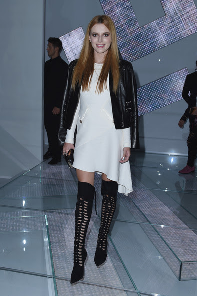 Bella Thorne at Versace