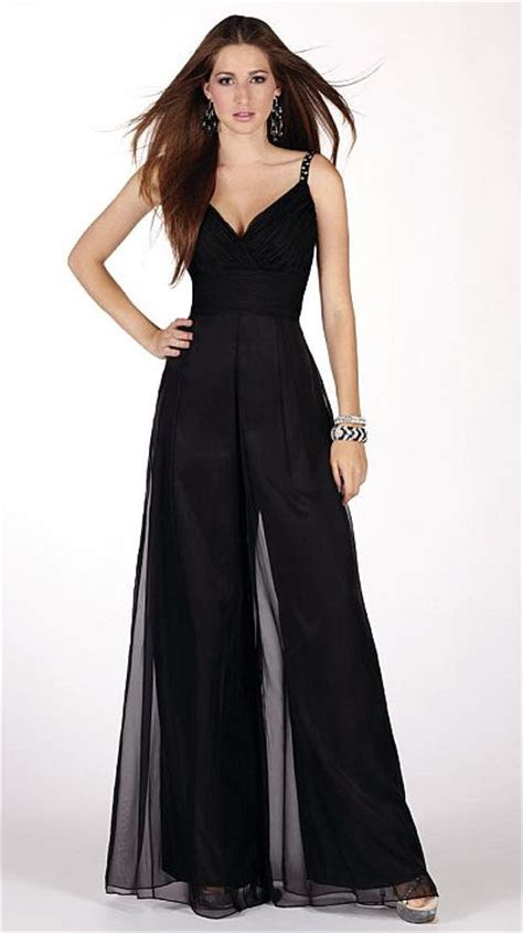 claudine  alyce prom unique silky chiffon jumpsuit