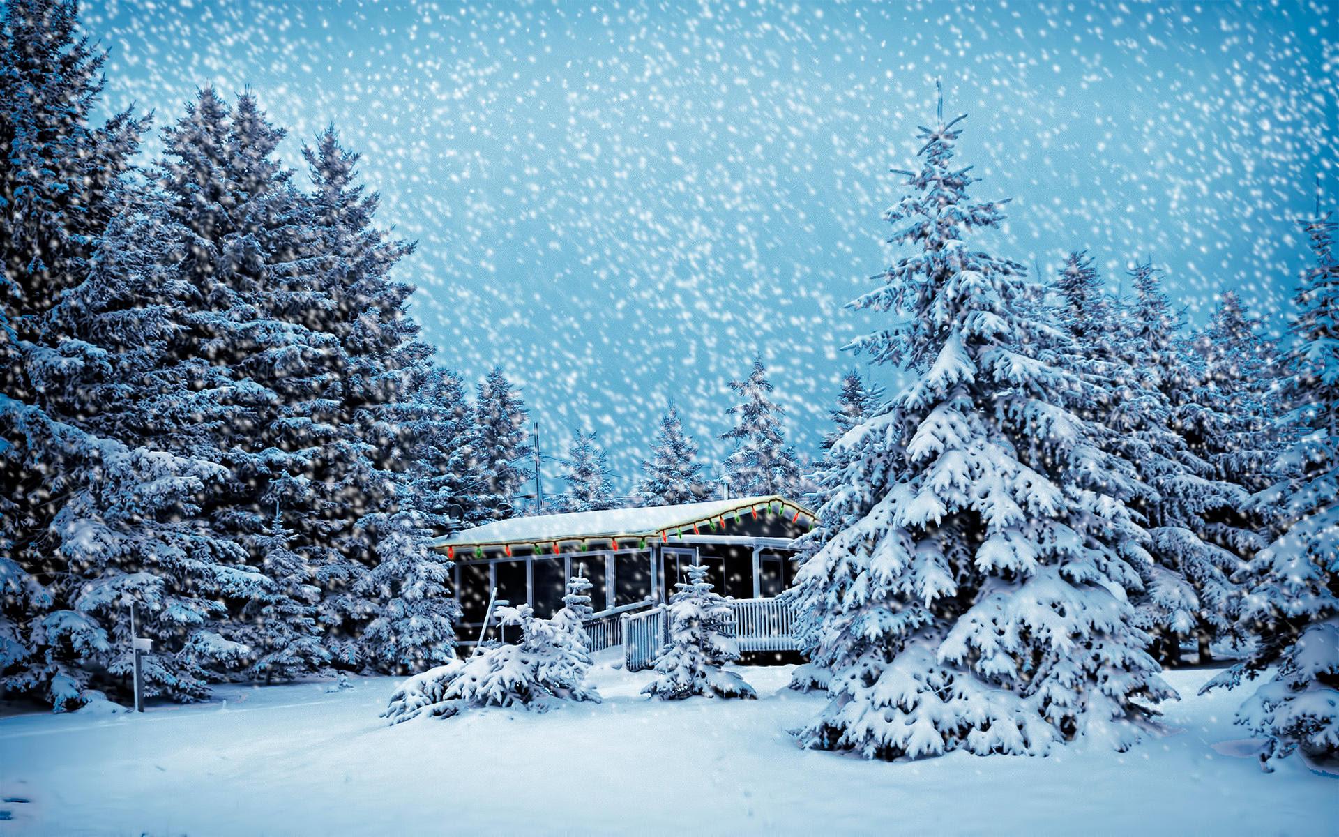 Christmas Snowstorm HD Wallpaper | Theme Bin - Customization, HD ...