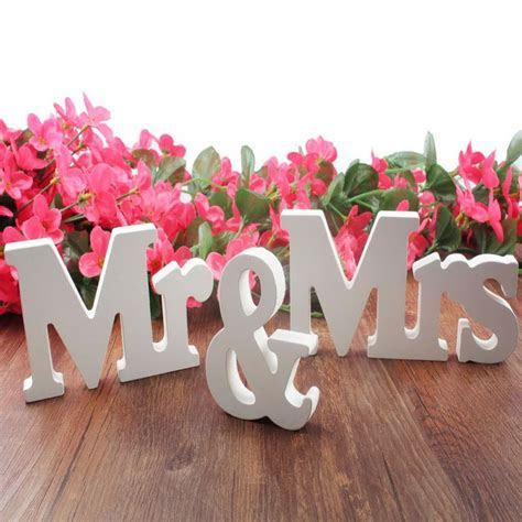 Wedding decorations 3 pcs/set Mr & Mrs romantic mariage