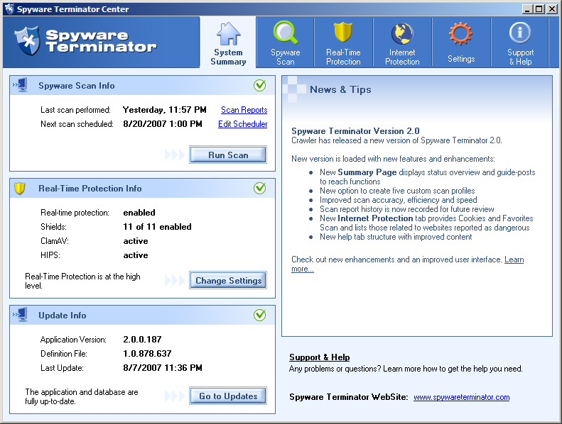 SPYWARE TERMINATOR : BEST ANTISPYWARE SOFTWARE FOR WINDOWS 7