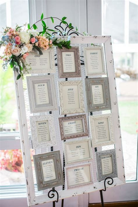 Vintage Picture Frame Seating Chart   One day   Pinterest