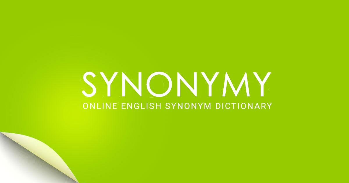 Synonymy Online Synonym Dictionary