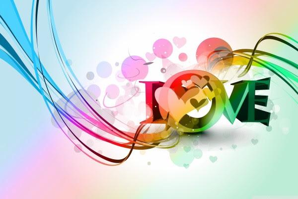 La Palabra Love Con Bonitos Colores Y Dibujos 40619