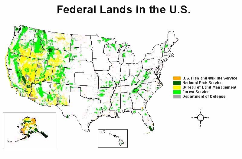 Map Of Federally Owned Property Federal Land Map Future Goals