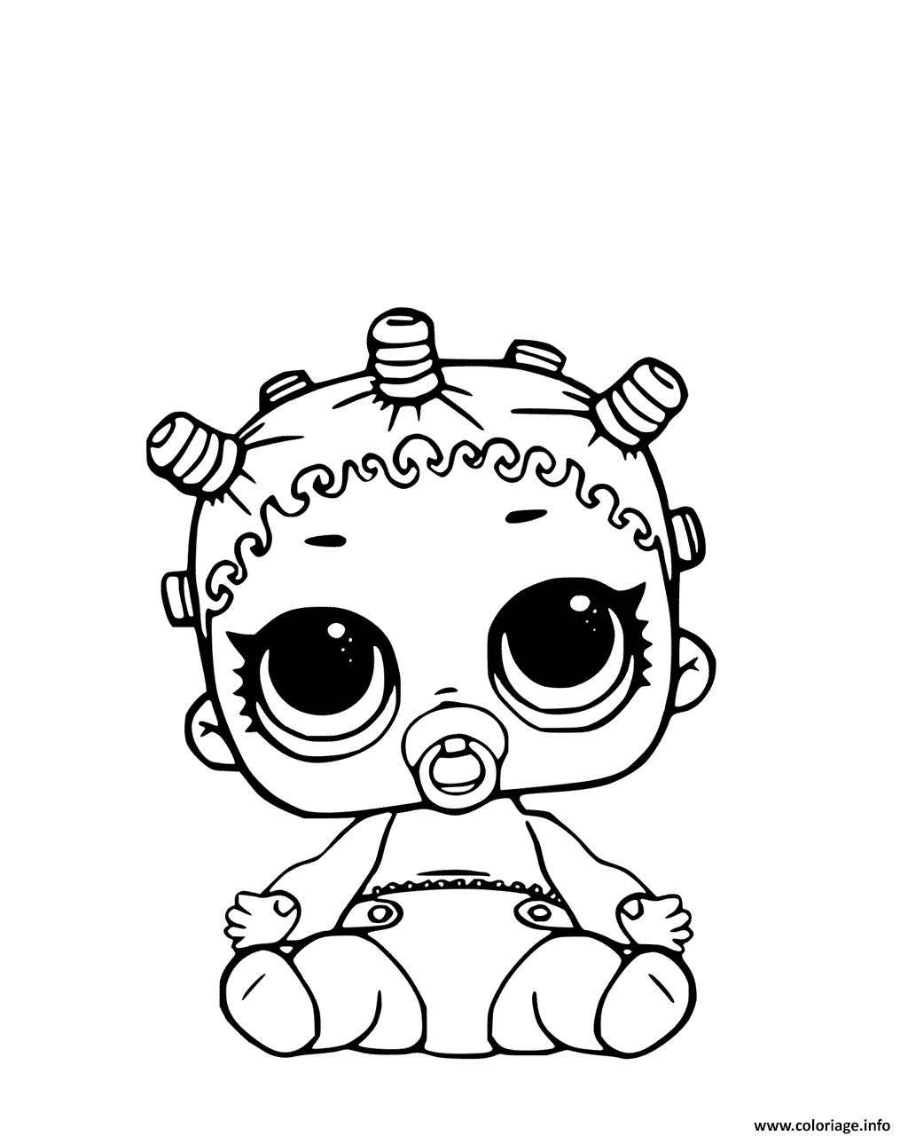 Coloriage Lil Roller Sk8ter Page Lol Doll Jecoloriecom