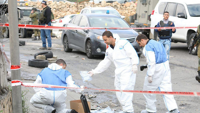 The scene of the shooting (Photo: Hilel Meyer, TPS)