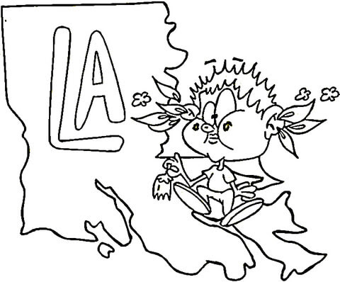 Image Result For Louisiana Map Printable