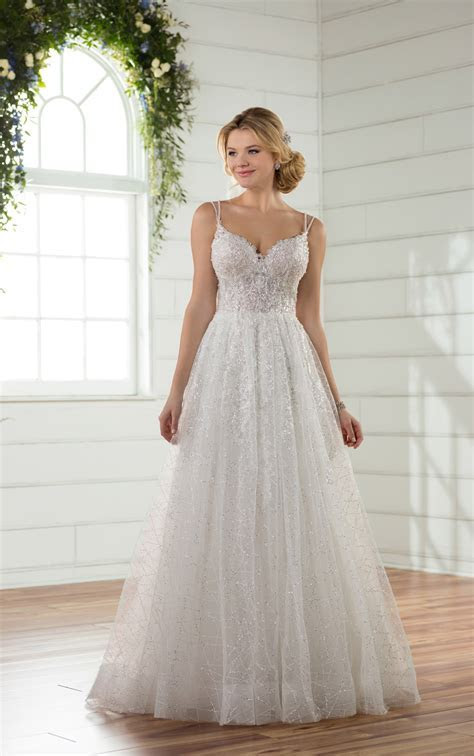 Wedding Dresses   Tulle Wedding Dress with Sequins