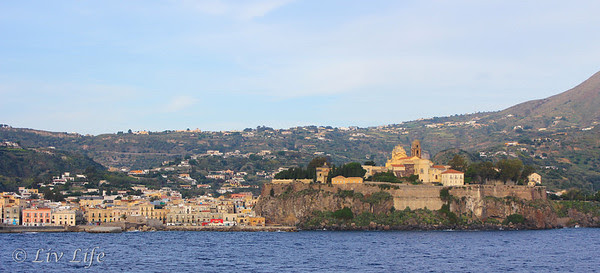 Lipari Island, viewed from the Seabourn Legend