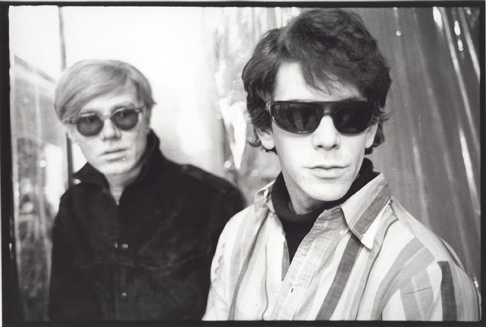 Andy Warhol and Lou Reed 1965–67. Photo by Stephen Shore.