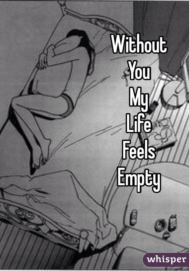 Without You My Life Feels Empty
