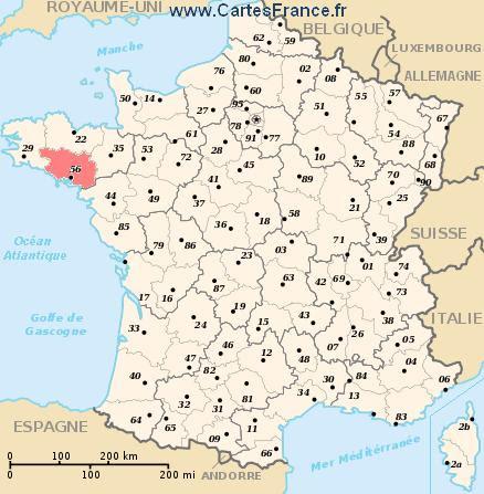 Morbihan Carte Plan Departement Du Morbihan 56