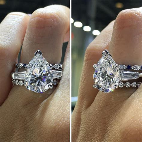 I love this big, beautiful pear shaped diamond ring