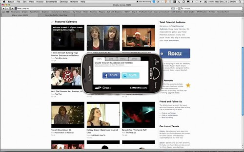 Samsung Social Media Sharing on bip.tv