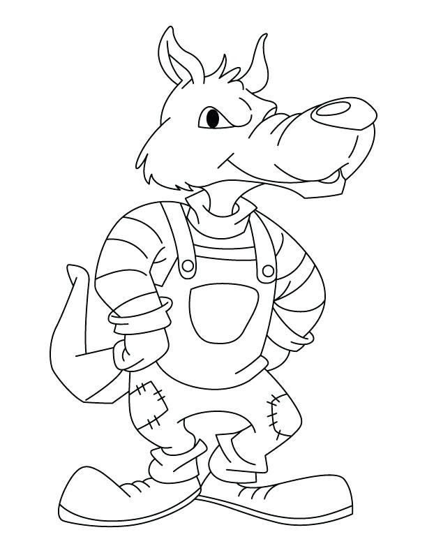 Big Bad Wolf Coloring Page at GetColorings.com | Free ...