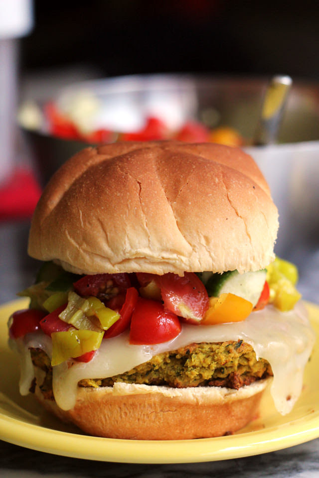 Falafel Burgers with Pepperoncini Salsa | Joanne Eats Well With Others