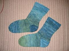 Crochet Socks from Handspun